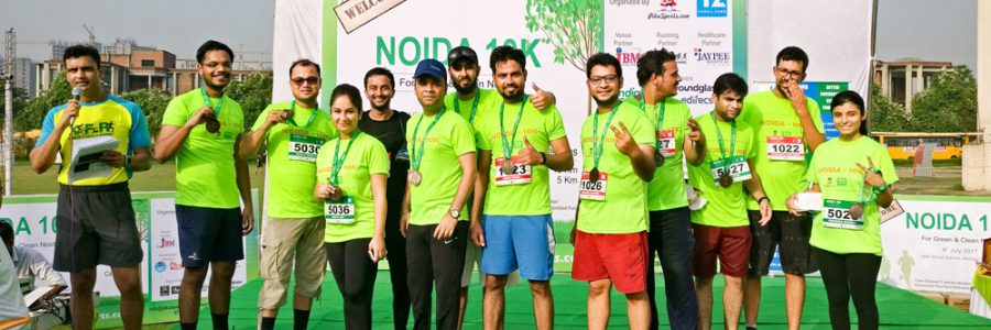 Noida 10 K Run – For Green & Clean Noida – 9 July 2017